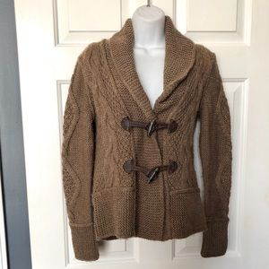 LOFT Wool & Alpaca Blend Toggle Close Cardigan